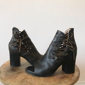 Free People Leather open toed heels